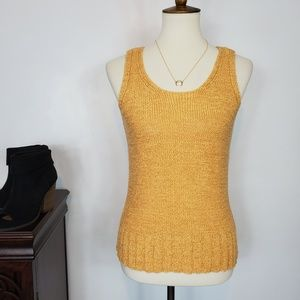 JH Collectibles Knit Tank Top Mustard Yellow, S